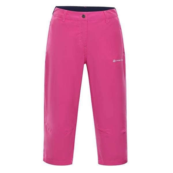 Růžové 3/4 dámské kalhoty Alpine Pro