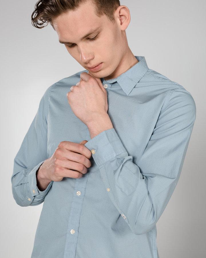 Modrá pánská košile s dlouhým rukávem Pepe Jeans - velikost S