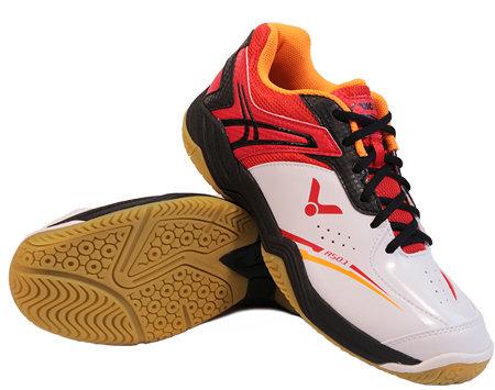 Bílo-oranžová pánská sálová obuv A501, Victor - velikost 45,5 EU