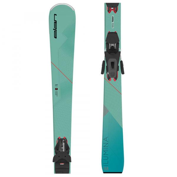 Modré dámské lyže s vázáním Elan - délka 158 cm