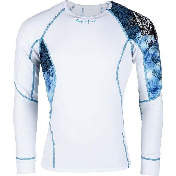 Bílé pánské funkční tričko s dlouhým rukávem Suspect Animal - velikost XXL