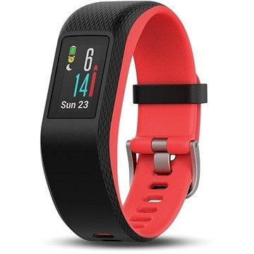 Černo-červený fitness náramek VivoSport Optic, Garmin
