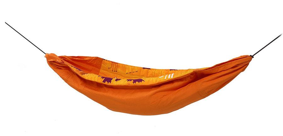 Oranžová houpací síť pro 1 osobu Hamaka