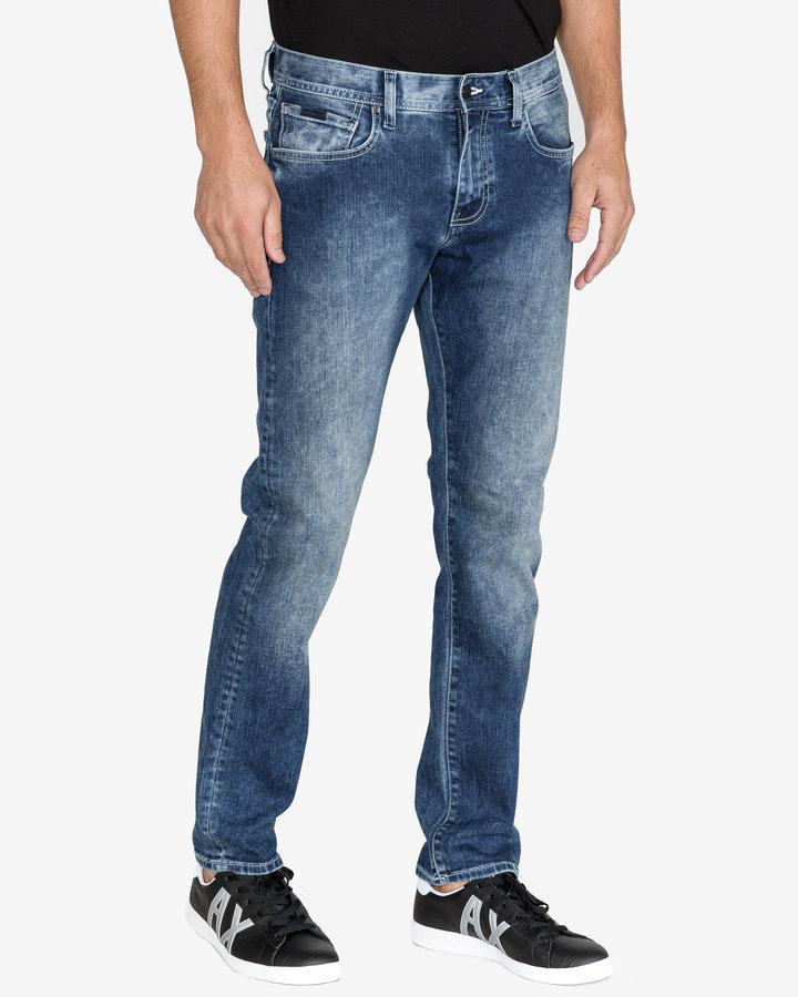 Modré pánské džíny Armani Exchange