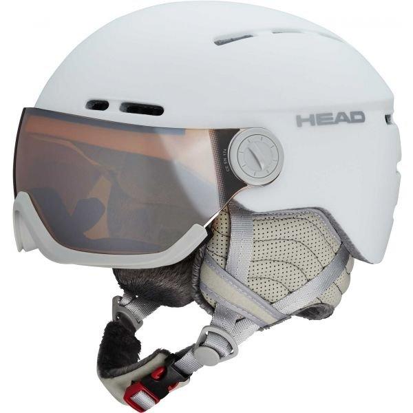 Bílá dámská lyžařská helma Head