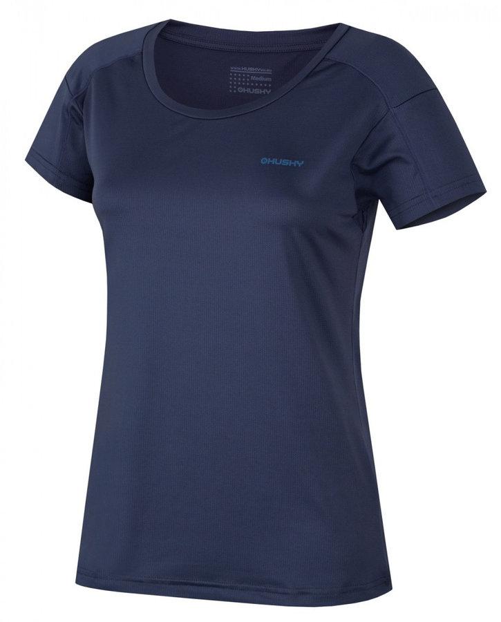 Modré dámské funkční tričko s krátkým rukávem Husky