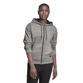Šedá dámská mikina s kapucí Adidas - velikost S