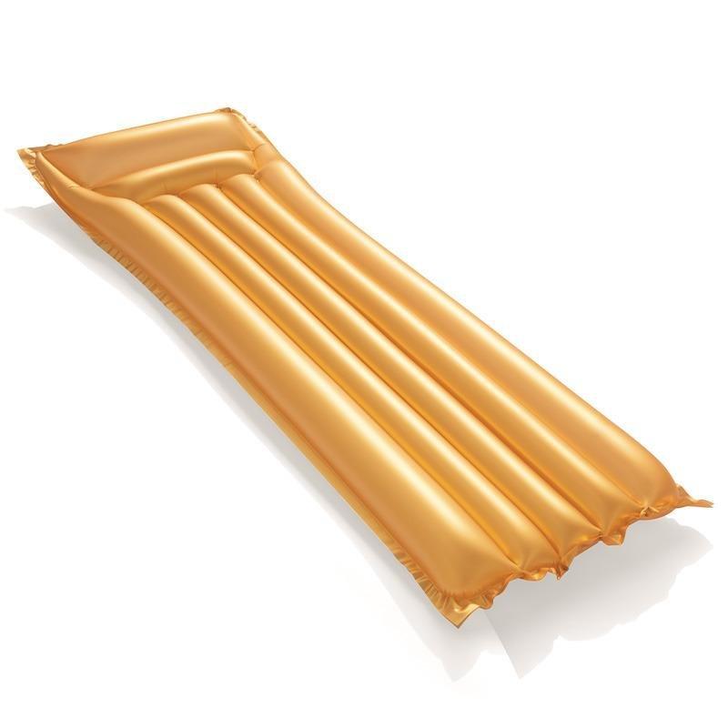 Nafukovací lehátko - Nafukovací matrace zlatá 183x69 cm