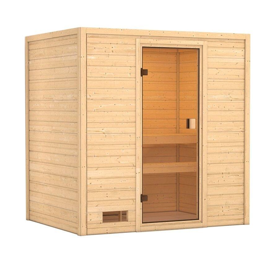 Vnitřní finská sauna pro 2 osoby SELENA, Karibu