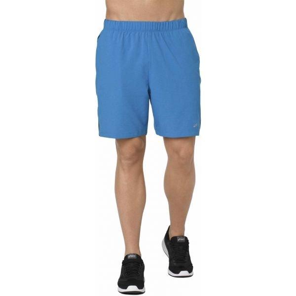 Modré pánské běžecké kraťasy Asics
