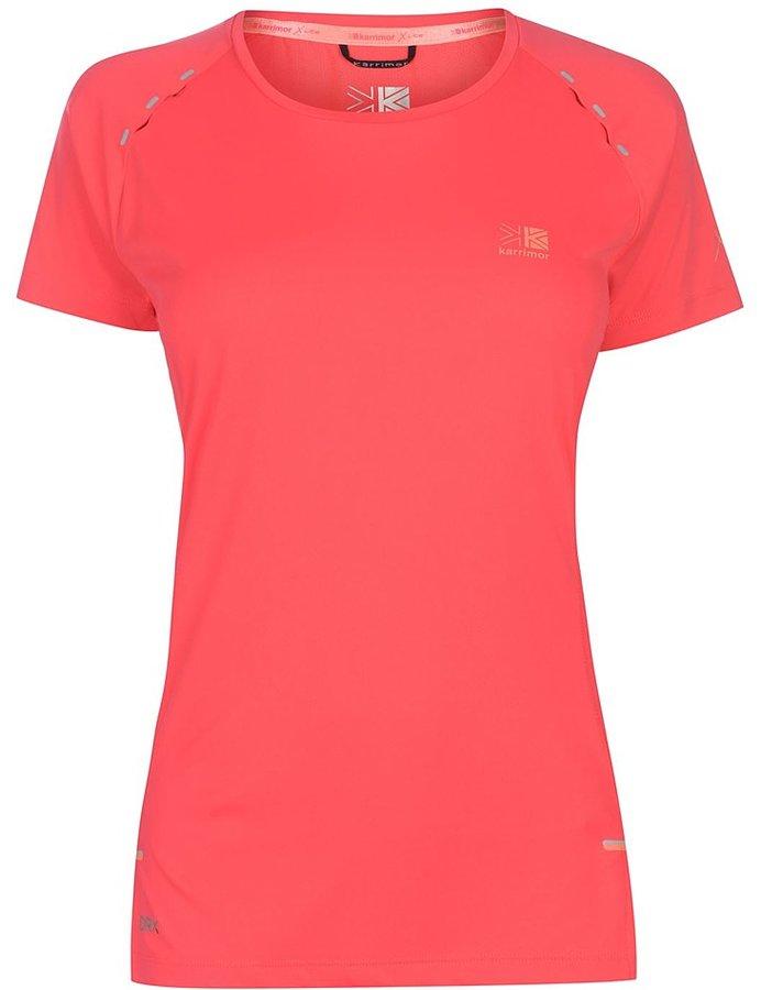 Růžové dámské běžecké tričko Karrimor