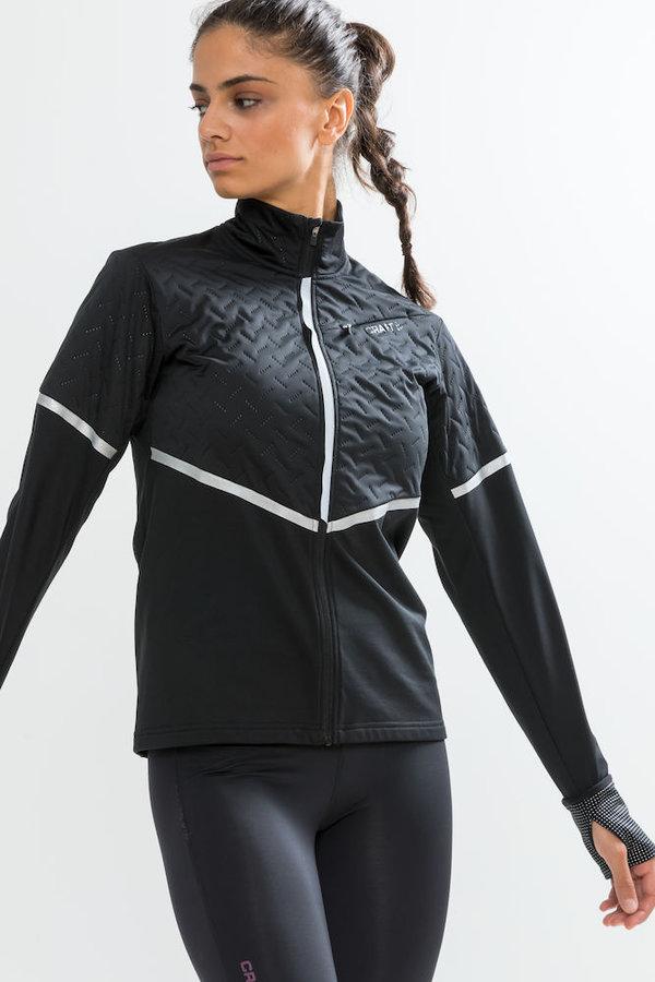 Černá dámská běžecká bunda Urban Thermal Wind, Craft - velikost L