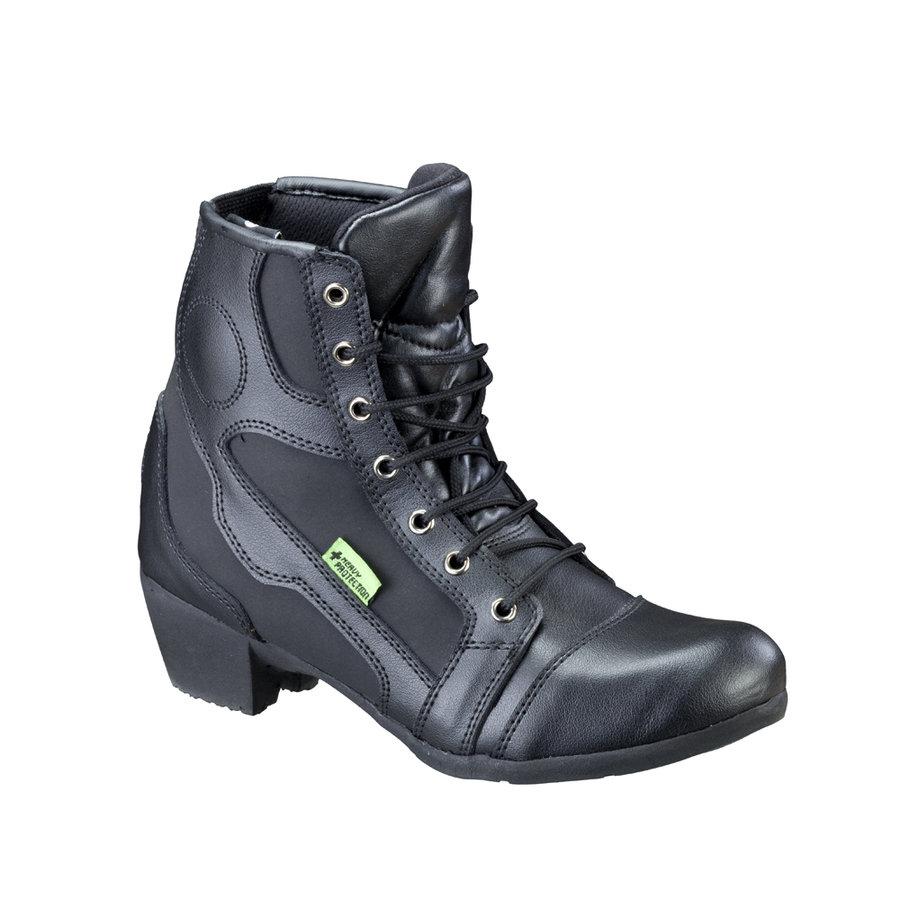 Černé nízké dámské motorkářské boty Jartalia NF-6092, W-TEC