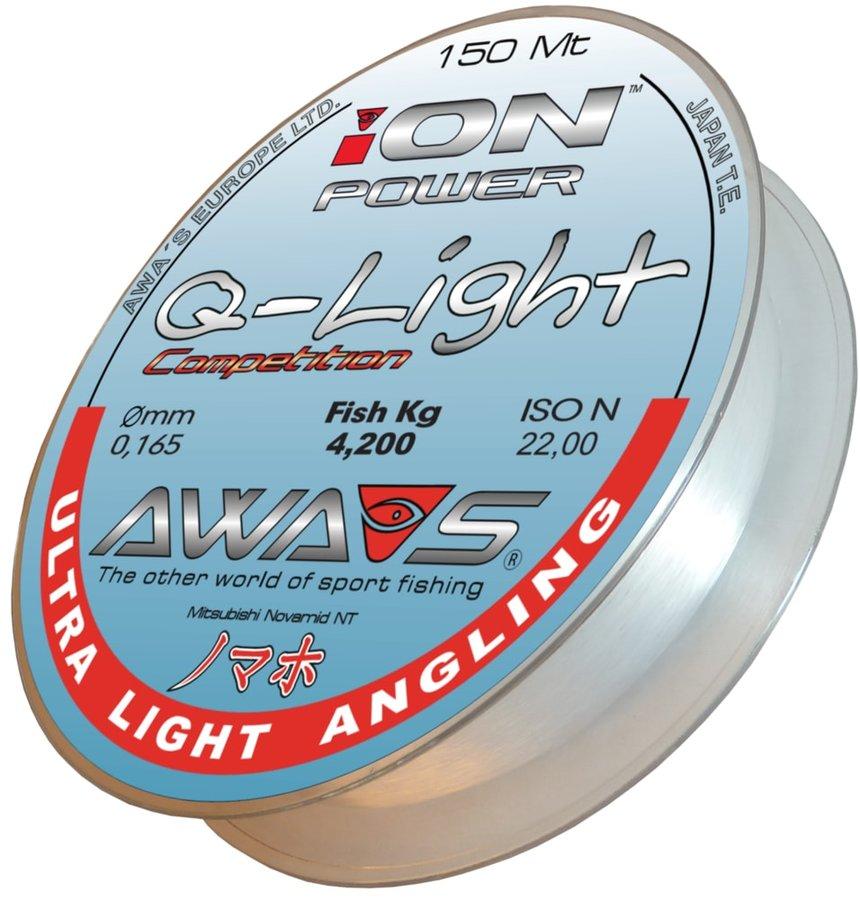 Rybářský vlasec - Awa-S Vlasec Ion Power Q-Light Competition 150m - 0,181mm