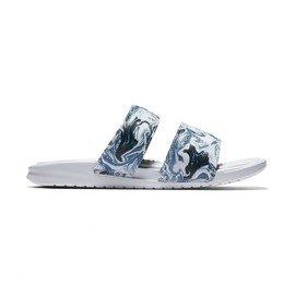 Bílo-modré dámské pantofle Nike
