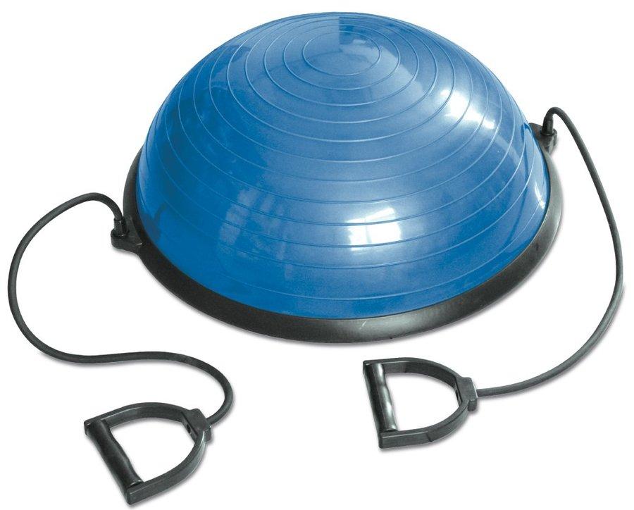 Modrá balanční podložka s gumovými expandéry Tunturi