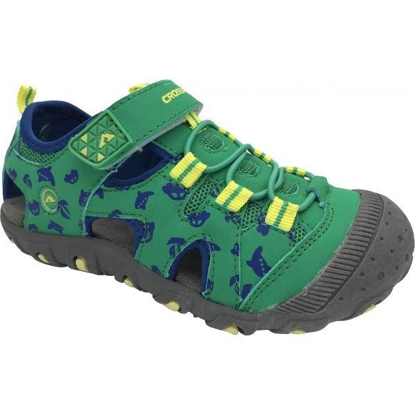 Zelené dětské sandály Crossroad