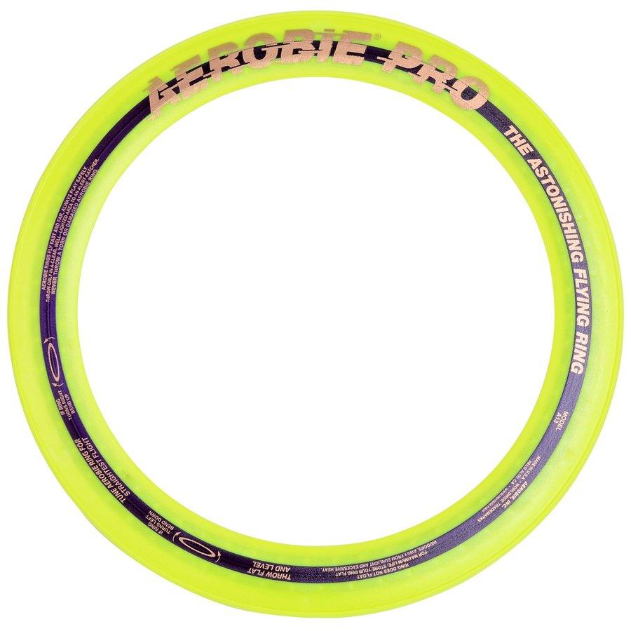 Žlutý plastový létající kruh Aerobie - průměr 33 cm