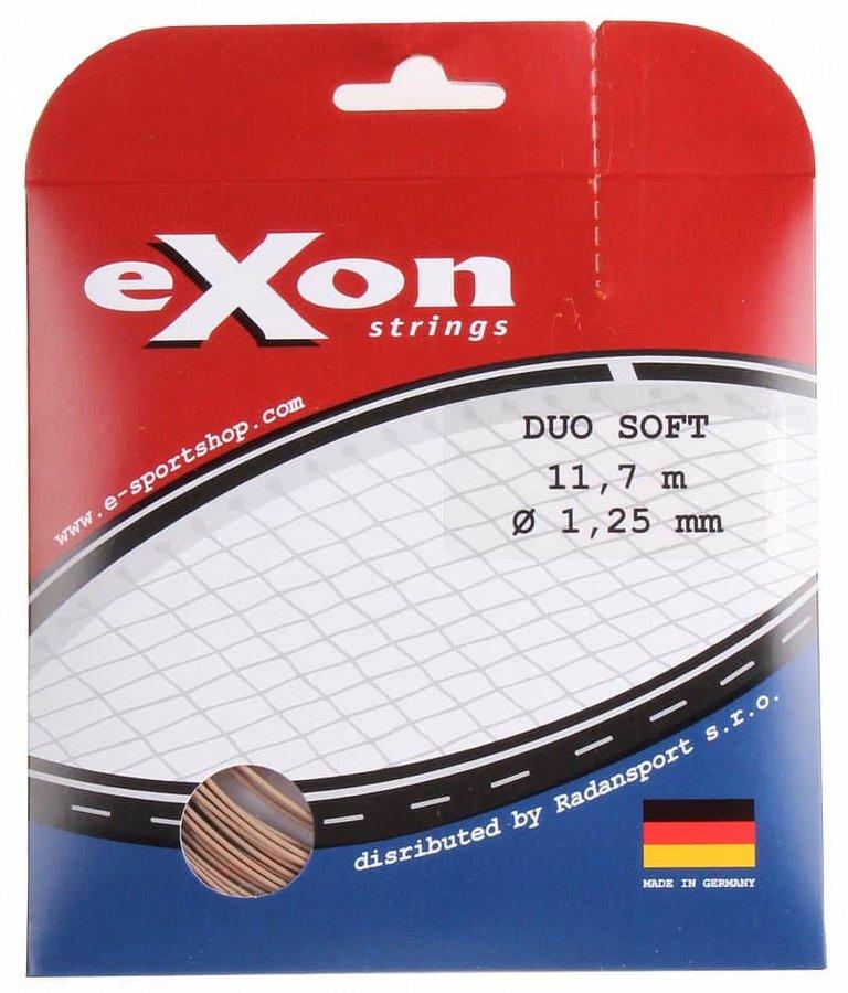 Tenisový výplet - Duo Soft tenisový výplet 11,7 m barva: černá-stříbrná;průměr: 1,25
