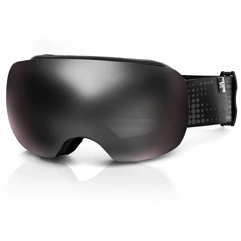 Růžovo-šedé lyžařské brýle Spokey