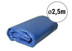 Modrá solární plachta na bazén - průměr 250 cm