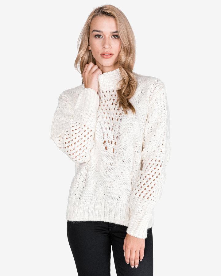 Bílý dámský svetr Pepe Jeans - velikost M