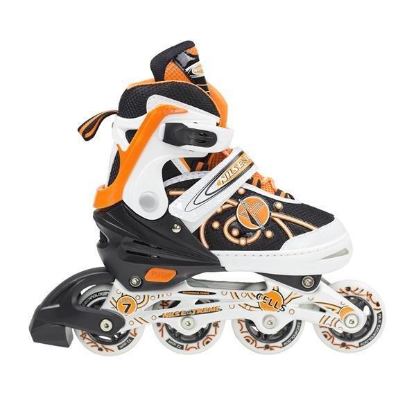 Černo-oranžové kolečkové brusle Nils Extreme - velikost 31-34 EU