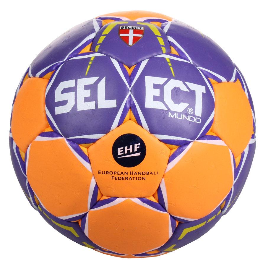 Modro-oranžový míč na házenou HB Mundo, Select - velikost 0