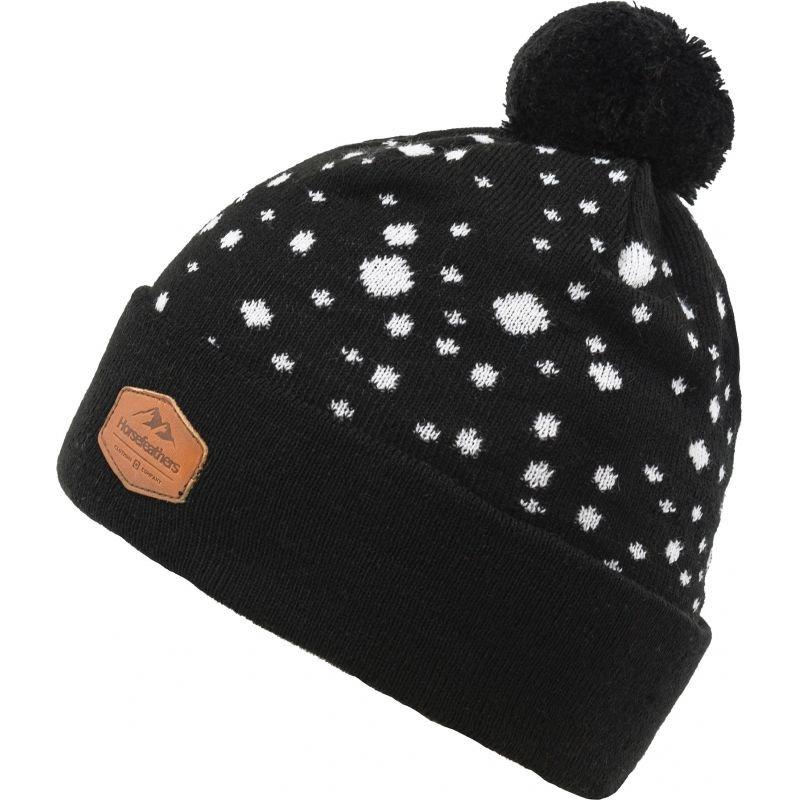 Černá zimní čepice Horsefeathers - univerzální velikost