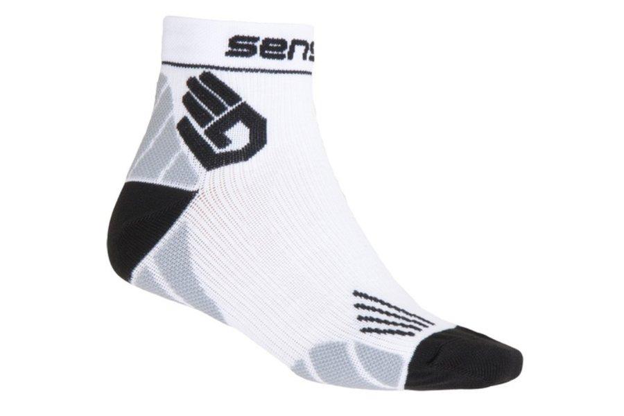 Bílé vysoké pánské běžecké ponožky Marathon, Sensor - velikost 35-38 EU