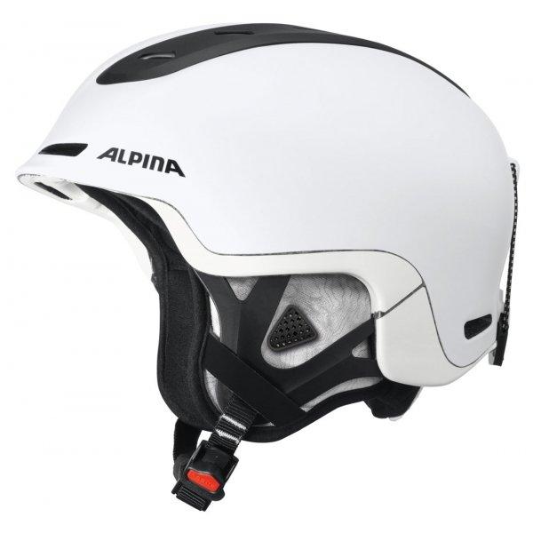 Bílá lyžařská helma Alpina - velikost 52-56 cm