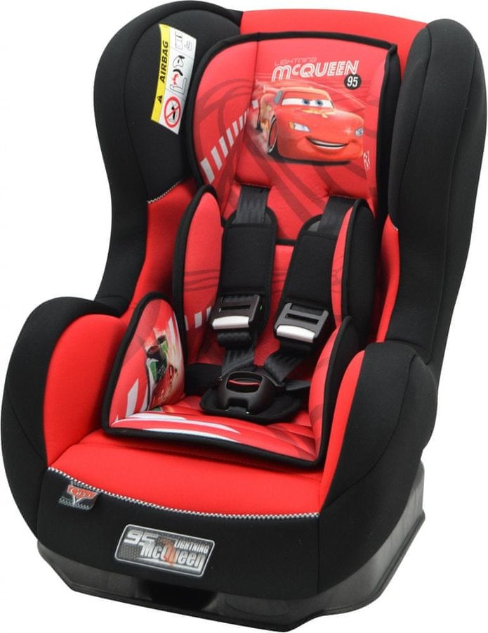 Červená dětská autosedačka Cosmo, Nania - nosnost 18 kg