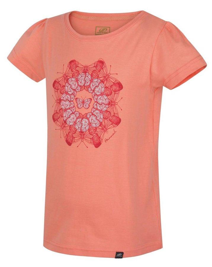 Oranžové dětské tričko s krátkým rukávem Hannah - velikost 116