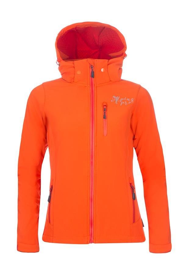 Oranžová softshellová dámská turistická bunda Alpine Pro