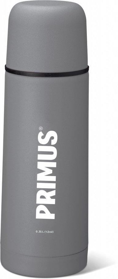 Šedá termoska na pití Vacuum Bottle, Primus - objem 0,75 l