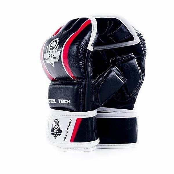 Bílo-černé MMA rukavice Bushido