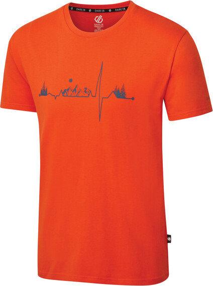 Oranžové pánské tričko s krátkým rukávem Dare 2b - velikost XL