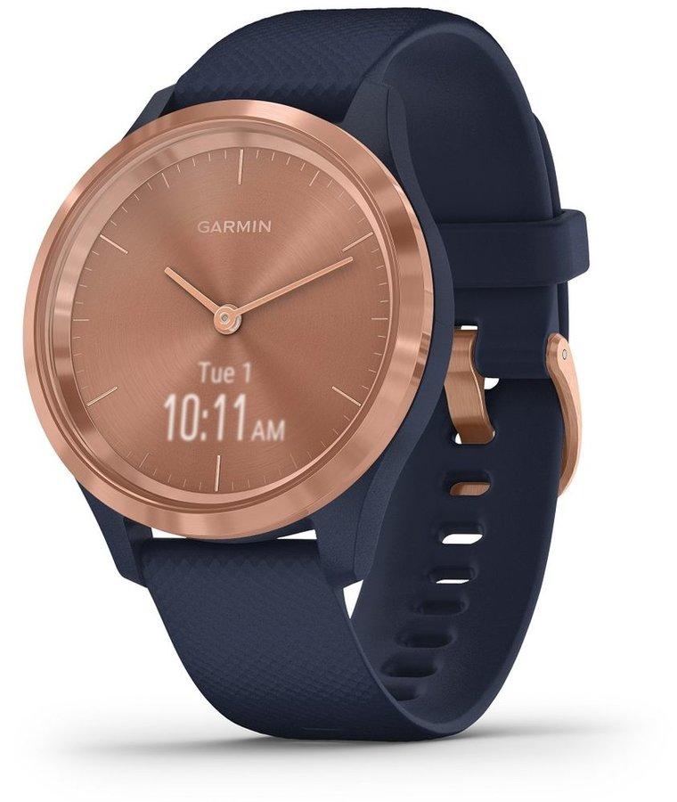 Modré analogové chytré hodinky vivomove 3S, Garmin