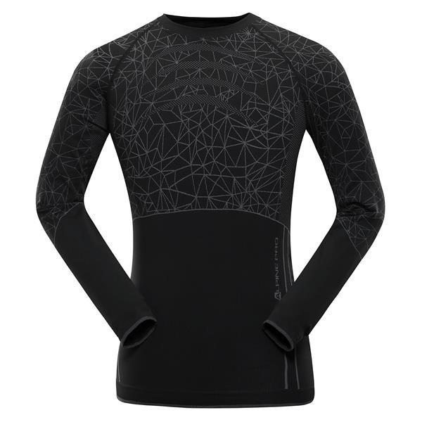 Černé pánské funkční tričko Alpine Pro - velikost XS-S