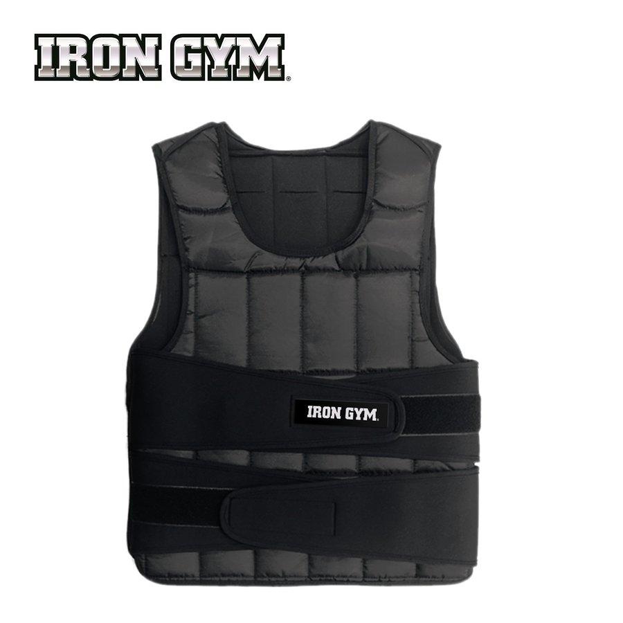 Černá zátěžová vesta Weight Vest, Iron Gym - 10 kg