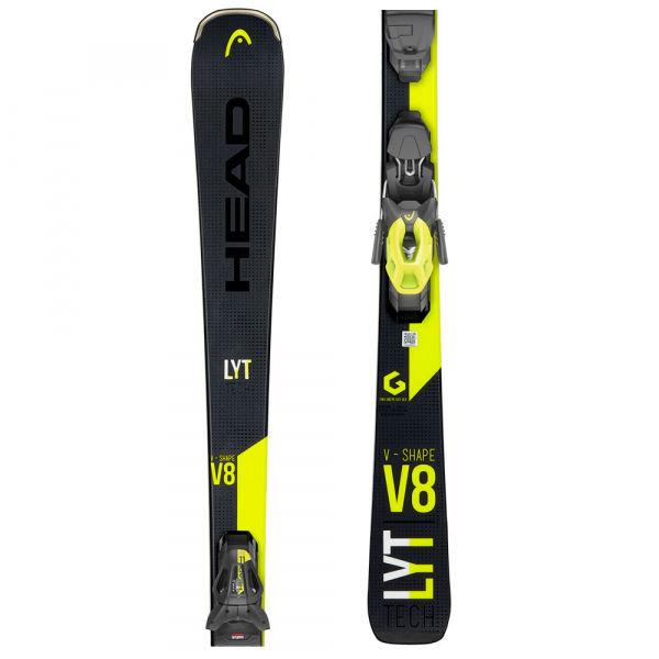Černo-žluté lyže s vázáním Head - délka 170 cm