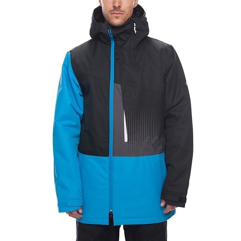 Černo-modrá pánská snowboardová bunda 686 - velikost M
