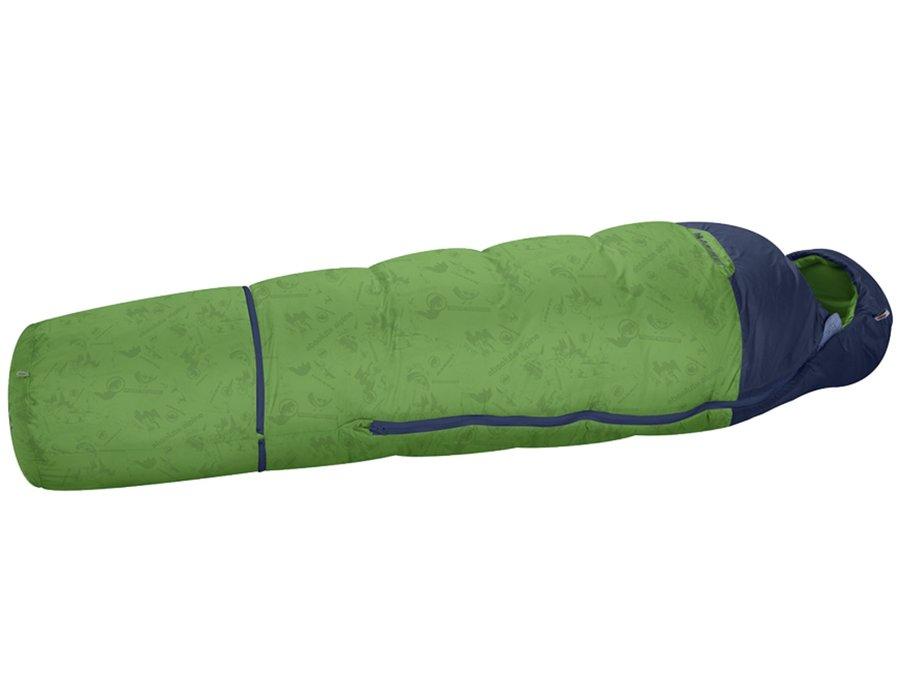 Zelený dětský spací pytel Little MTI, MAMMUT - do výšky 140 cm