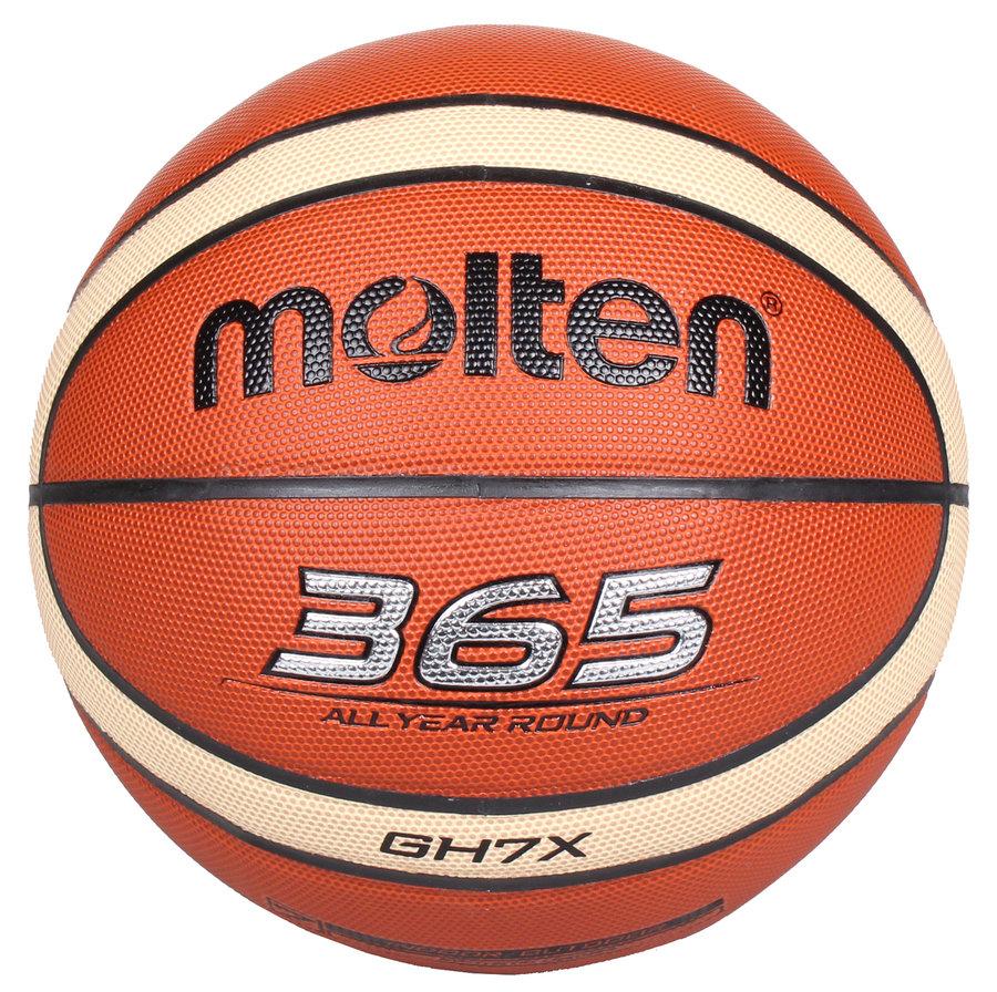 Oranžový basketbalový míč BGE7, Molten - velikost 7