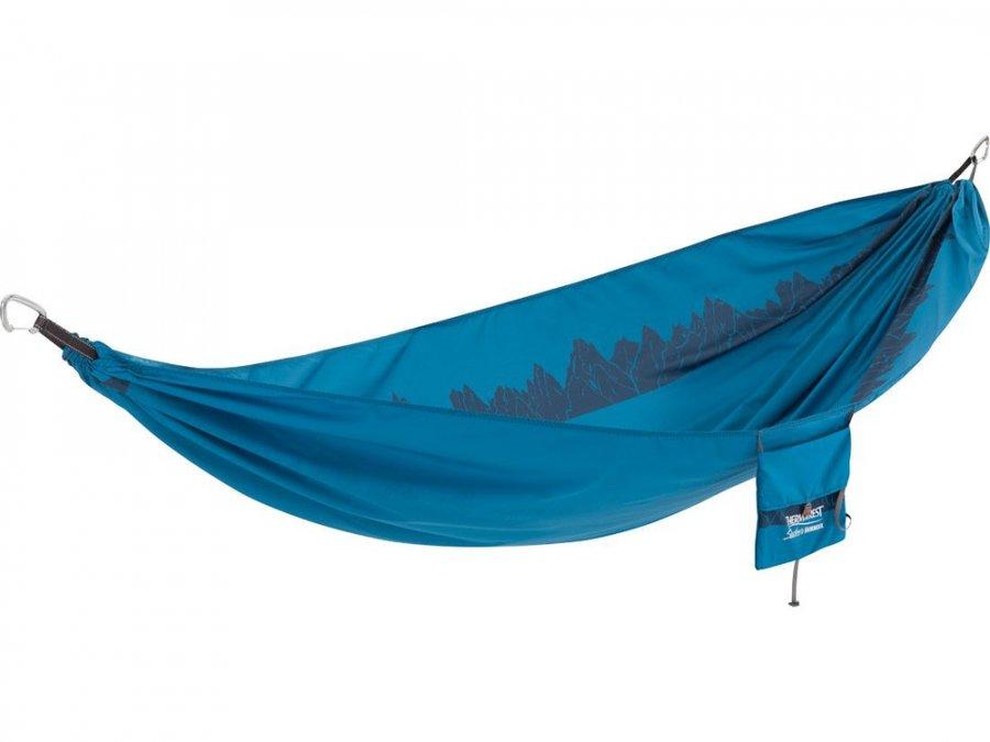 Modrá houpací síť pro 1 osobu Hammock, Therm A Rest