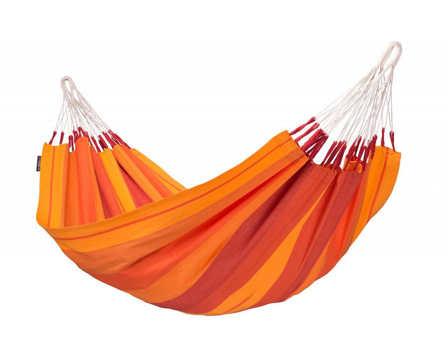Červeno-oranžová houpací síť pro 1 osobu LA SIESTA