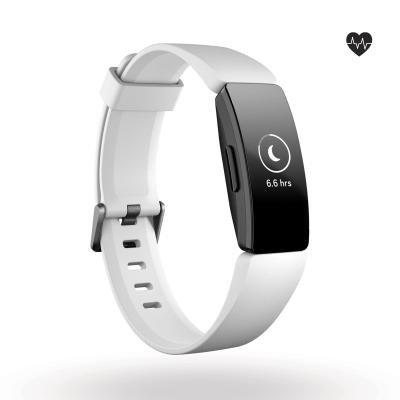 Bílý fitness náramek Inspire HR, Fitbit