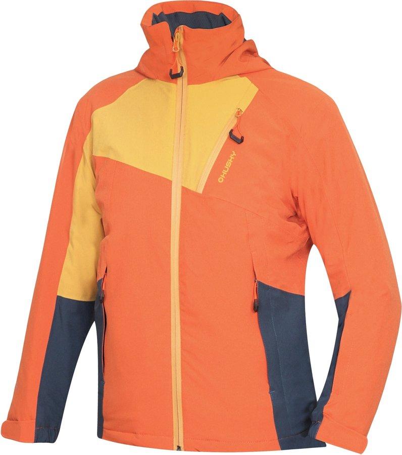 Oranžová dětská lyžařská bunda Husky - velikost 140