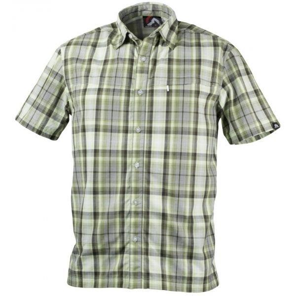 Šedo-zelená pánská košile s krátkým rukávem NorthFinder
