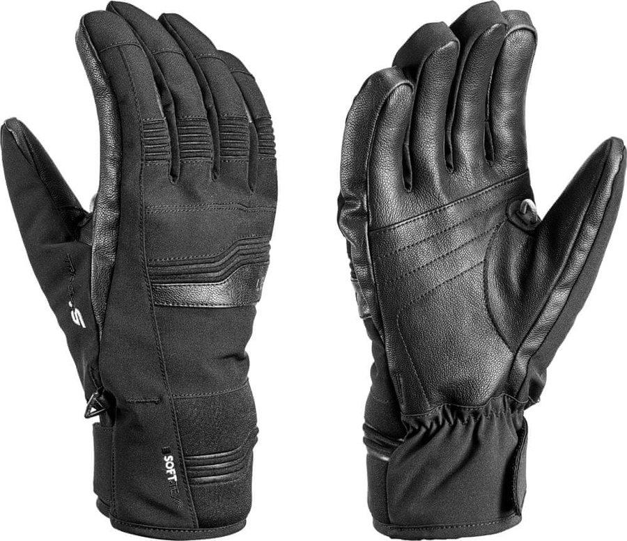 Černé lyžařské rukavice Leki - velikost 9,5
